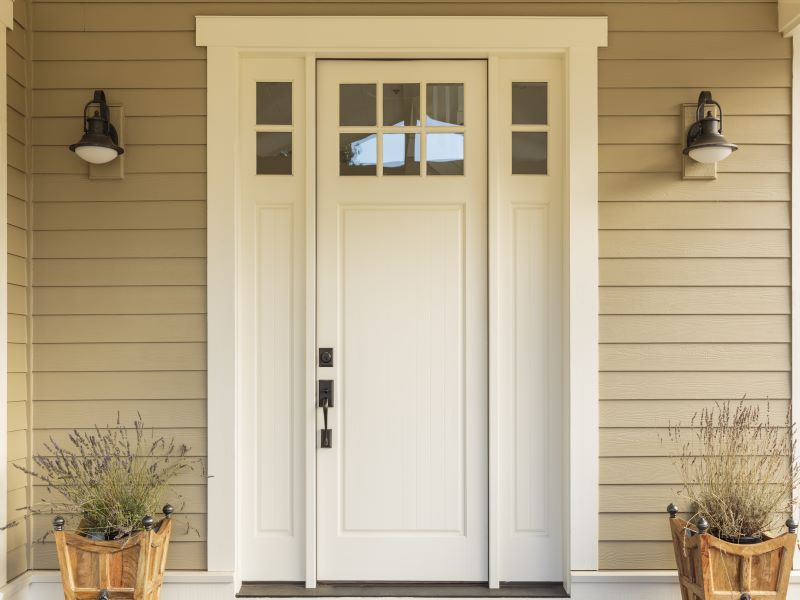Country style entry door web