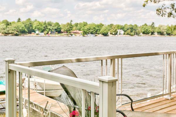 Railing & deck lakeside closup