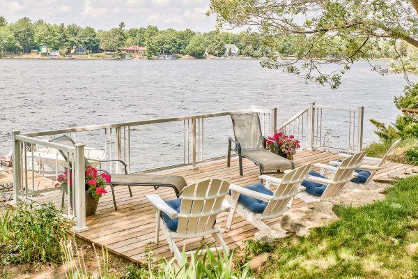 Railing & deck lakeside