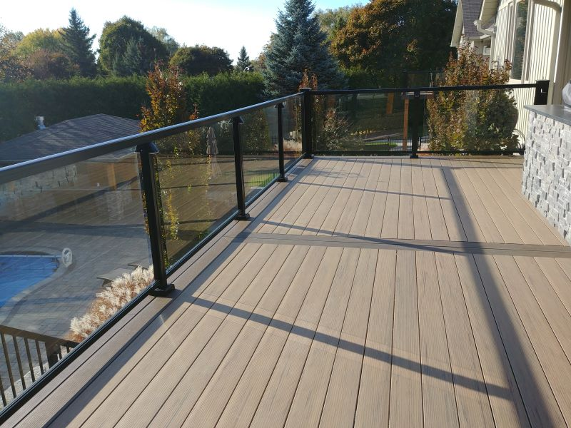 black glass with decking