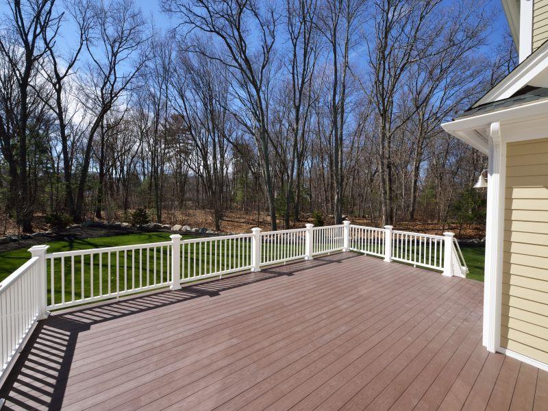 composite deck with railing web